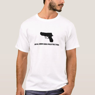 Real Men Use Protection Design T-Shirt