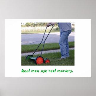 Real Men Use Reel Mowers poster