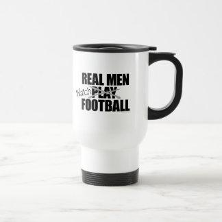 Real Men Watch Football Travel Mug