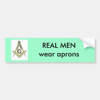 REAL MEN wear aprons Bumper Sticker
