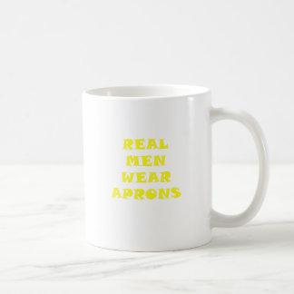 Real Men Wear Aprons Classic White Coffee Mug