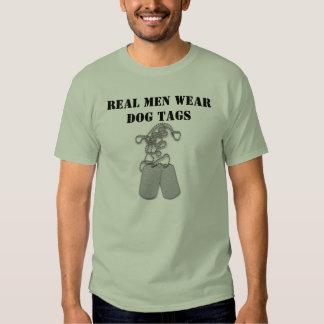 Real men wear dog tags T-Shirt