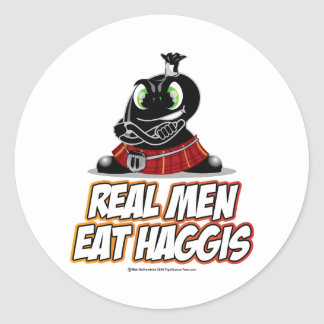 Real Men Wear Haggis Classic Round Sticker