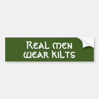 Real men wear Kilts Bumper Sticker