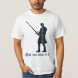 Real Men Wear Kilts Campbell Scottish Tartan T-Shirt