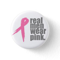 Real Men Wear Pink Button