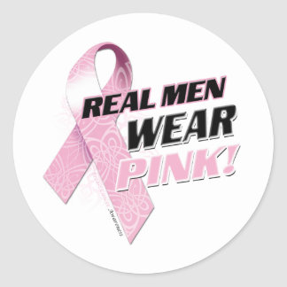 Real Men Wear Pink Classic Round Sticker