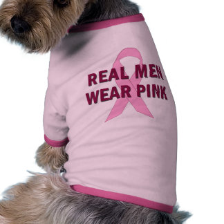 Real Men Wear Pink for Breast Cancer Awareness Pet T Shirt