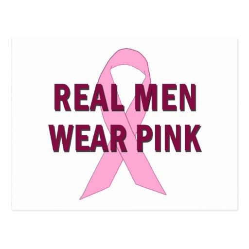 Real Men Wear Pink for Breast Cancer Awareness Postcard