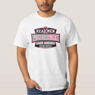 REAL Men Wear Pink For The Cure Breast Cancer T Shirt