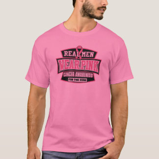 REAL Men Wear Pink For The Cure Breast Cancer T-Shirt