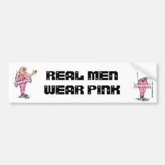 Real Men Wear Pink Funny Fat Guy Ballet Bumper Stickers
