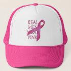 Real Men Wear Pink Mesh Hat