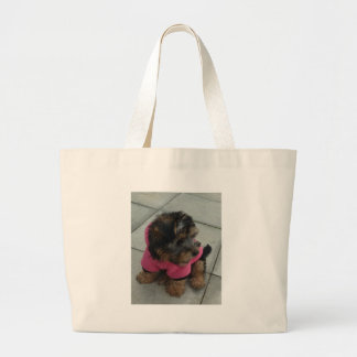 Real men wear pink - Oscar the Yorkie Canvas Bag