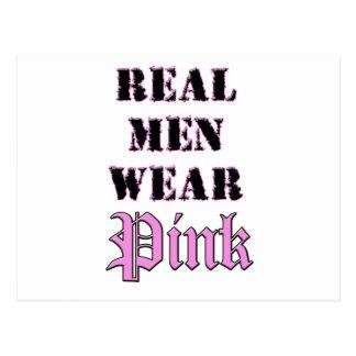 Real Men Wear Pink Postcard