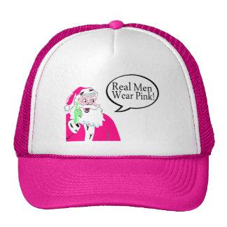 Real Men Wear Pink Santa Mesh Hats