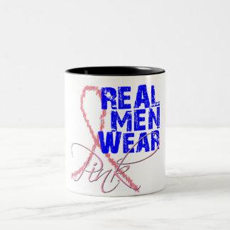 Real Men Wear Pink Two-Tone Coffee Mug