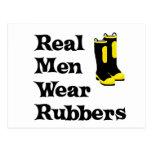 Real Men Wear Rubbers Postcard