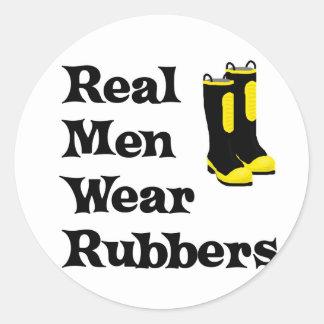 Real Men Wear Rubbers Stickers