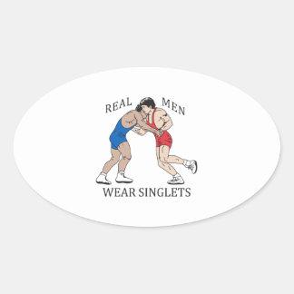 REAL MEN WEAR SINGLETS OVAL STICKER