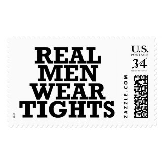 Real men wear tights postage