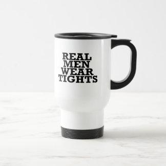 Real men wear tights travel mug