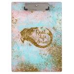 Real Mermaid Life- Glitter Gold Mermaid Clipboard