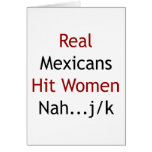 Real Mexicans Hit Women Nah JK Card