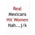 Real Mexicans Hit Women Nah JK Post Card
