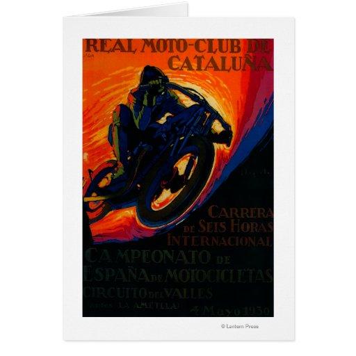 Real Moto Club Vintage PosterEurope Greeting Card