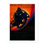 Real Moto Club Vintage PosterEurope Postcard