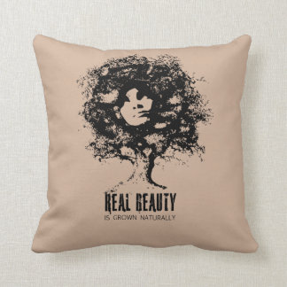 Real Natural Beauty Throw Pillow