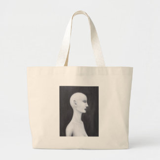 Real Nefertiti black and white realism portrait Bags