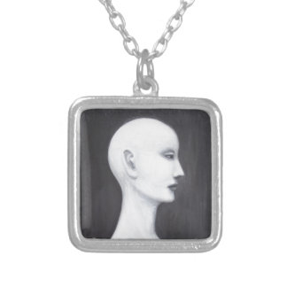 Real Nefertiti black and white realism portrait Necklace