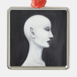 Real Nefertiti (black and white realism portrait) Christmas Tree Ornaments