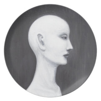 Real Nefertiti (black and white realism portrait) Plates