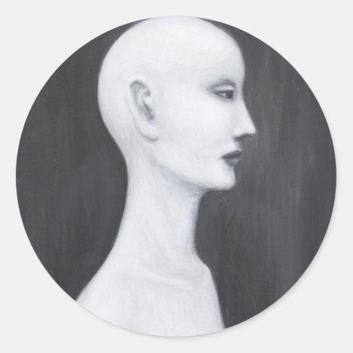 Real Nefertiti (black and white realism portrait) Sticker