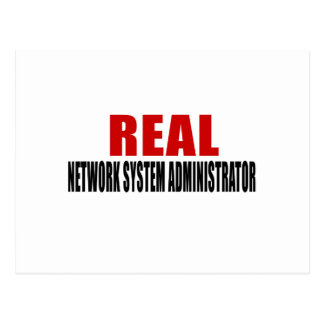 REAL NETWORK SYSTEM ADMINISTRATOR POSTCARD