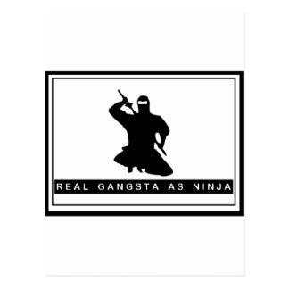 REAL NINJA POSTCARD