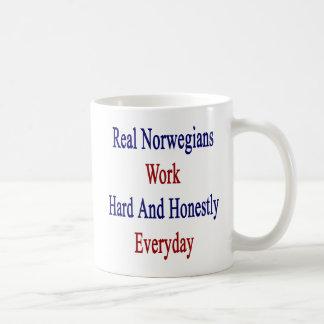 Real Norwegians Work Hard And Honestly Everyday Coffee Mug