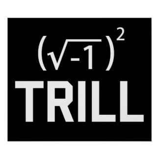 Real Numbers are Trill Poster