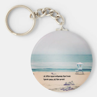 Real photo key chain - a little sand
