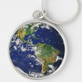 Real Photograph Of World Keychain