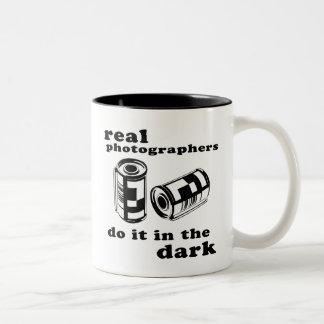 real photographers Two-Tone coffee mug