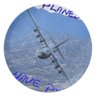 REAL PLANES HAVE PROPS DINNER PLATE