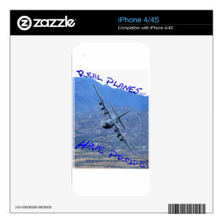 REAL PLANES HAVE PROPS iPhone 4S SKINS