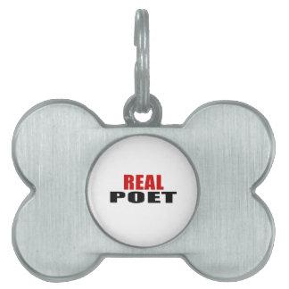 REAL POET PET TAGS