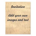 Real Pommele Sapele Veneer Woodgrain 4.25x5.5 Paper Invitation Card
