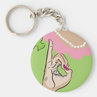 Real Pretty Girl Sorority Fun Basic Round Button Keychain