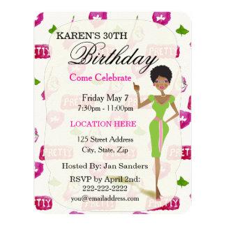 Real Pretty Girls Birthday Party Invitations